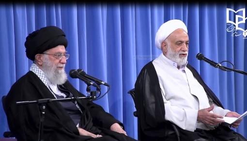 سخنرانی حجتالاسلام والمسلمین قرائتی در جلسه درس خارج فقه رهبر معظم انقلاب اسلامی